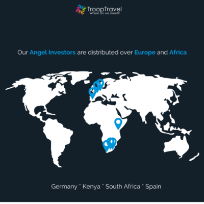 TroopTravel's Angel Investors are distributed over Europe and Africa