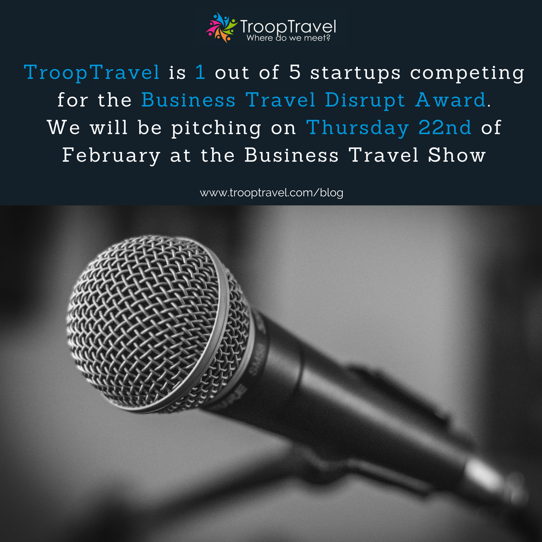 Pitching at Business Travel Show