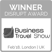 Winner Disrupt Award Business Travel Show